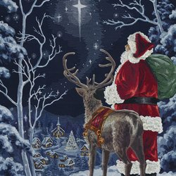 OESD Starry Night Santa Santa Thread Kit