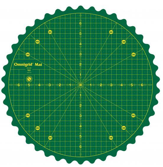14 Inch Rotating Cutting Mat Omnigrid 360-14WGR | Omnigrid
