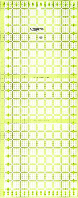 9 1/2 Inch x 24 Inch Omnigrip Ruler-RN9524 | Omnigrid