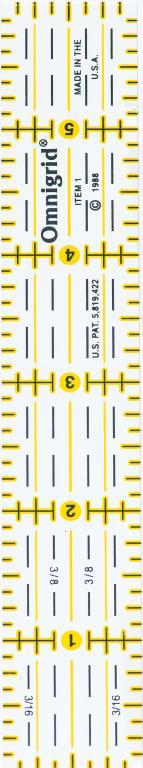 1 Inch x 6 Inch Omnigrid Ruler