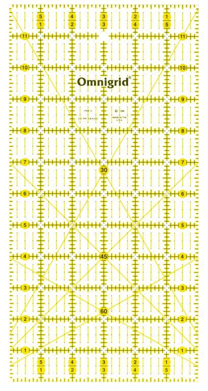 6 Inch x 12 Inch Omnigrid Ruler