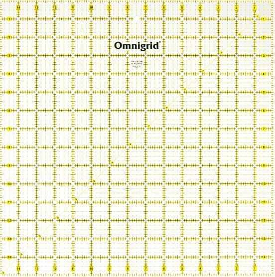 15 Inch x 15 Inch Omnigrid Ruler