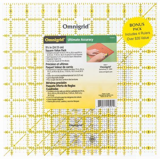 Omnigrid Square Ruler 9-1/2 in