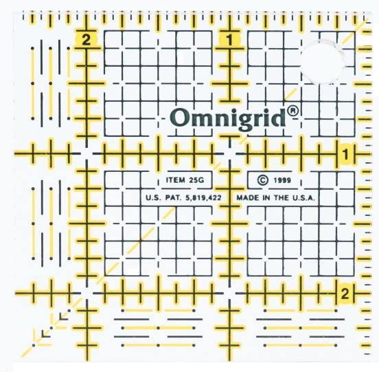 2 1/2 Inch x 2 1/2 Inch Omnigrid Ruler
