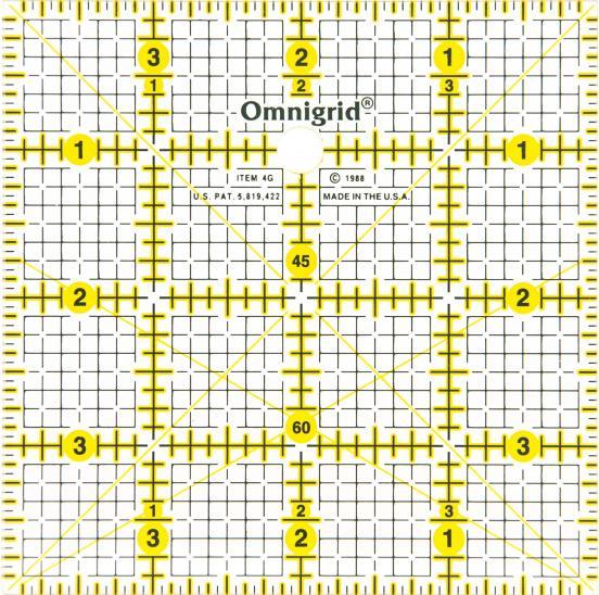 4 Inch x 4 Inch Omnigrid Ruler