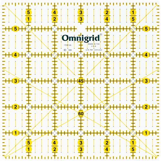 6 Inch x 6 Inch Omnigrid Ruler