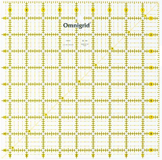 9 1/2 Inch x 9 1/2 Inch Omnigrid Ruler