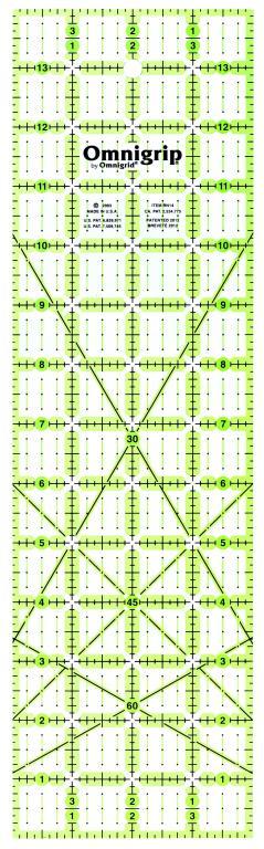 4 Inch x 14 Inch Omnigrip Ruler