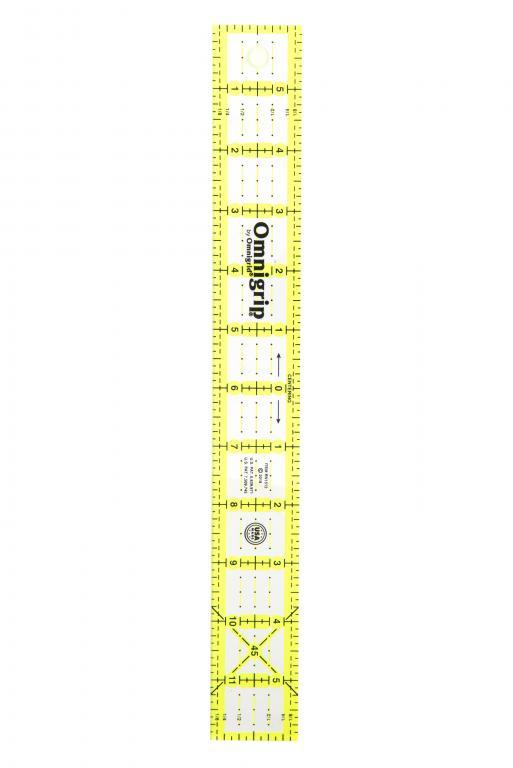 1 1/2 Inch x 12 Inch Omnigrip Ruler-RN1512 | Omnigrid RN1512