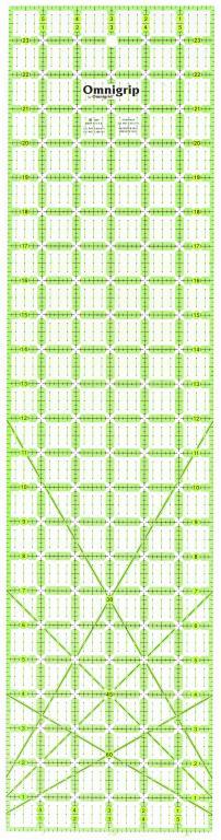 6 Inch x 24 Inch Omnigrip Ruler