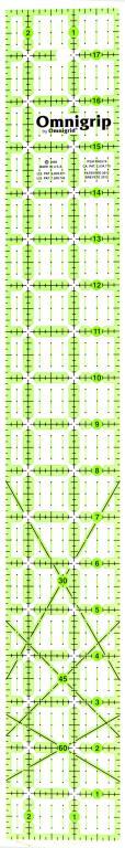 2 1/2 Inch x 18 Inch Omnigrip Ruler