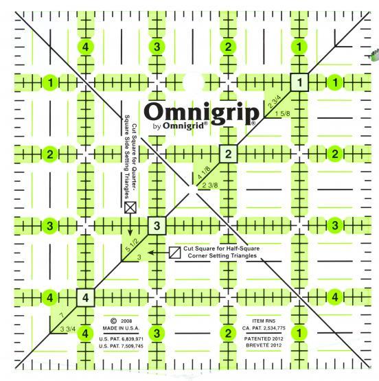 Omnigrip 5 Inch x 5 Inch Ruler