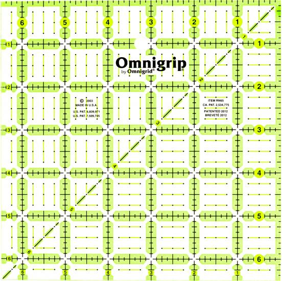 6 1/2 Inch x 6 1/2 Inch Omnigrip Ruler