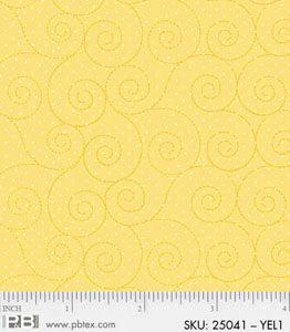 Basically Hugs Yellow Scroll