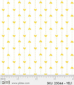 BASICALLY HUGS WHITE WITH YELLOW DOTS AND HEARTS 4486 25044 COLOR YEL1XXXX