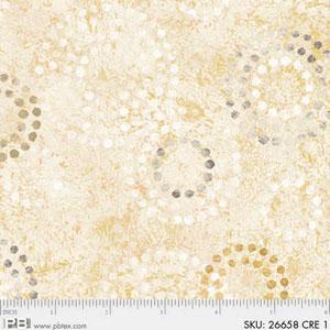 P&B NORM WYATT EARTHTONES GOLD WITH CIRCLES 4716 26658GOL