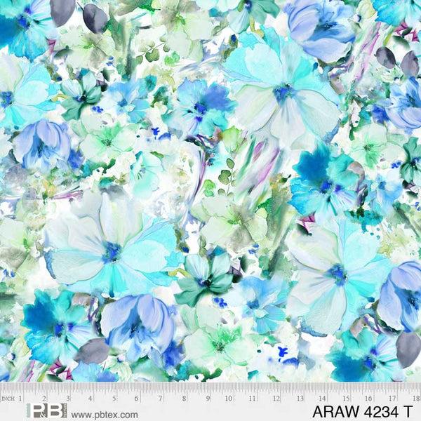 Arabesque - Turquoise 108 Wide