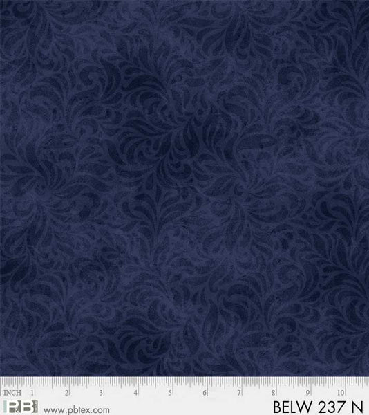 108in Wide Backing - Bella Suede - Navy -  Quilt Backing - P & B Textiles - BELW 237 N - 1363190677615