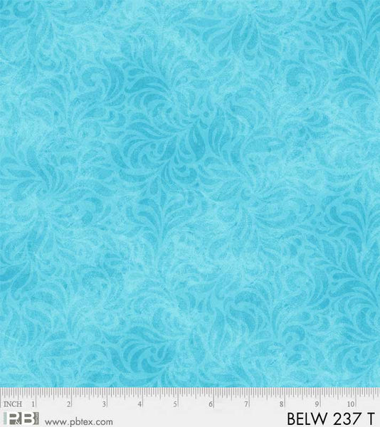 108in - Bella Suede - Turquoise - 108 inch Wide Quilt Backing - P & B Textiles - BELW 237 -T - 1363194380399