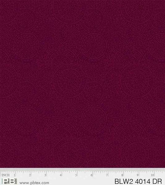 PB- Dark Red Medallion Bella Suede 108 Wideback