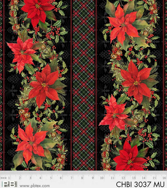 CHBI 3037 MU Christmas Bird Song Border Stripe