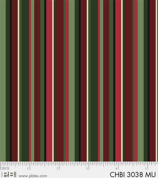 CHBI 3038 MU Christmas Bird Song Bandana Stripe