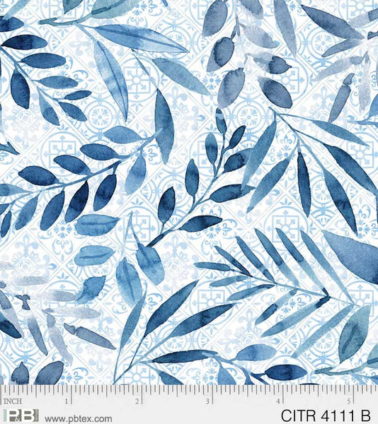 Citrus Sayings Leaves - Blue - CITR 4111 B