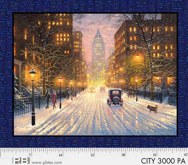Pastel City Lights Panel 36in Digitally Printed