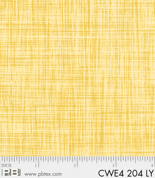 P & B Textiles Color Weave Yellow LY