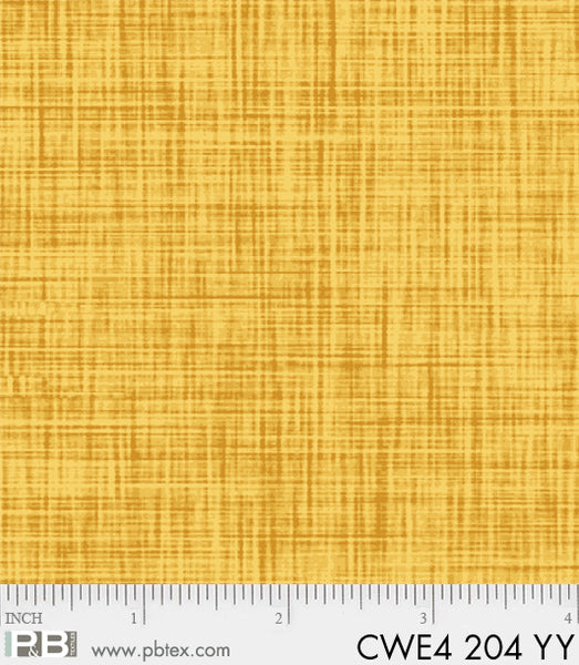 P & B Textiles Color Weave yellow YY