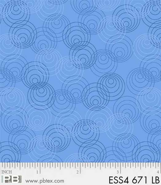 P&B Textiles Blue with Circle