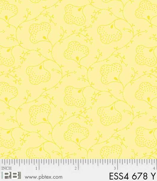 Yellow Scroll Flower ESS4 678 Y