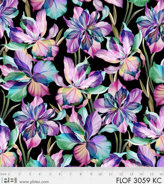 Flora Fantasia - Black Background