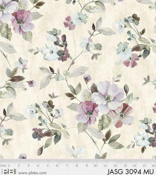 EOB - 1 yard - Jasmine's Garden - Large Flower - Multi