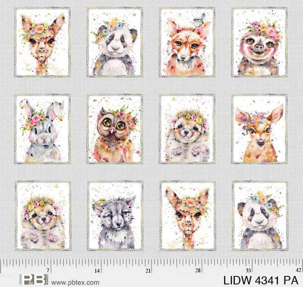 Little Darlings Woodland   LIDW 4341 PANEL