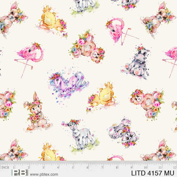 Little Darlings 4157 MU Toss Animals Multi
