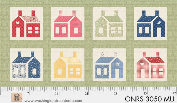 ONRS 3050 MU One-Room Schoolhouse Large Multi Color Houses