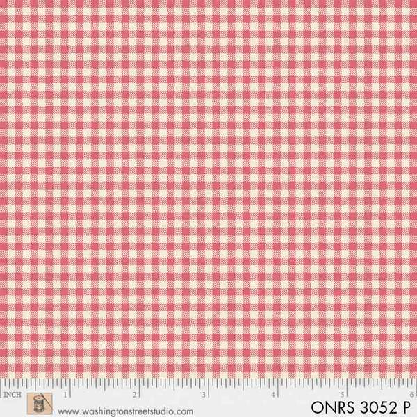 ONRS 3052 P One-Room Schoolhouse Pink Check
