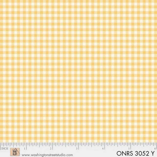 ONRS 3052 Y One-Room Schoolhouse Yellow Check