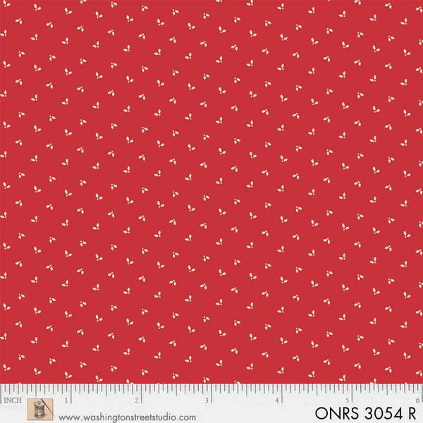 ONRS 3054 R One-Room Schoolhouse Red Tiny Leaf