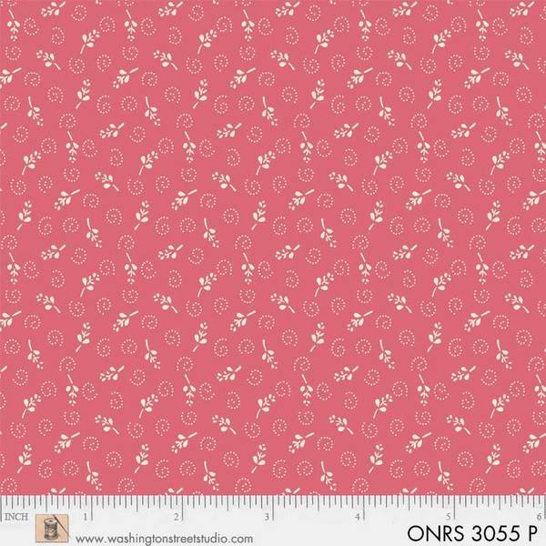 ONRS 3055 P One-Room Schoolhouse pink small floral