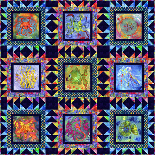 Living Coastal - Tide Pools by Stacy Day - Quilt Kit