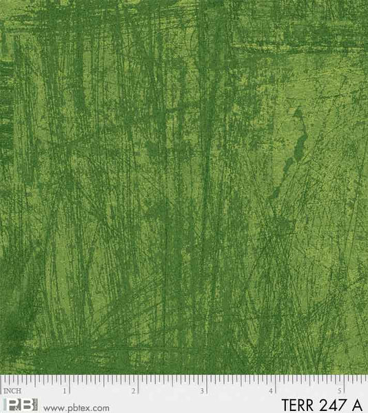 Terra by Norman Wyatt Green Texture Fabric Yardage TERR247-A