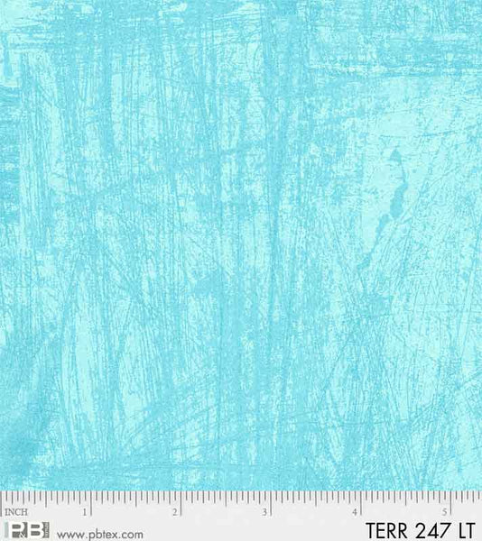 Terra by Norman Wyatt Light Turquoise Texture Fabric Yardage TERR247-LT