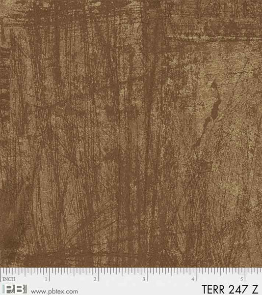 Terra by Norman Wyatt Brown Texture Fabric Yardage TERR247-Z