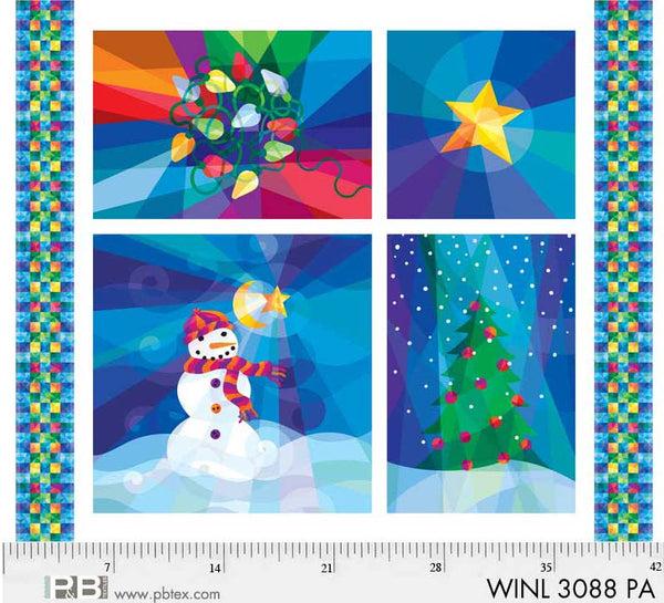 Winter Lights Panel 3088