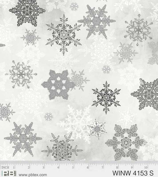 Winter Wonderland Large Snowflakes Silver