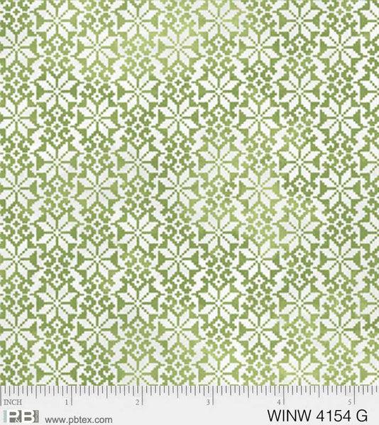 Winter Wonderland Winter Texture Green