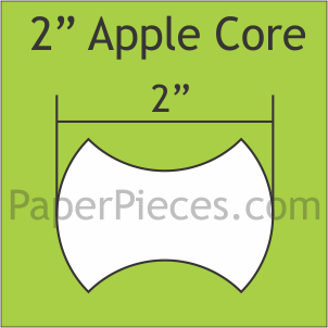 2 Inch Apple Core Small Pack 50 pcs
