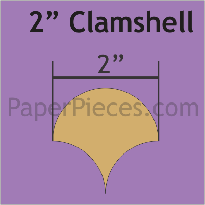 2 Inch Clamshell Papers from Paper Pieces